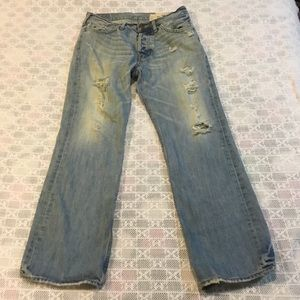 Men  HOLLISTER Jeans 31 X 32 Hermosa Low Rise Boot